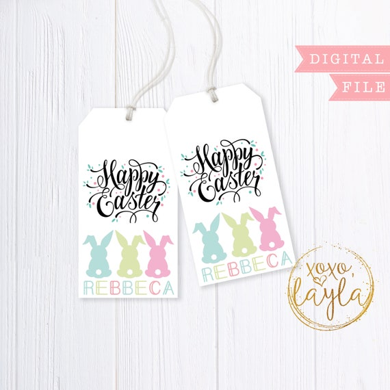 graphic about Printable Gift Bags referred to as Easter tags, easter tags printable, easter tag PDF, easter reward bag tag, easter present bag, printable present tag, easter thank by yourself, reward bag tag