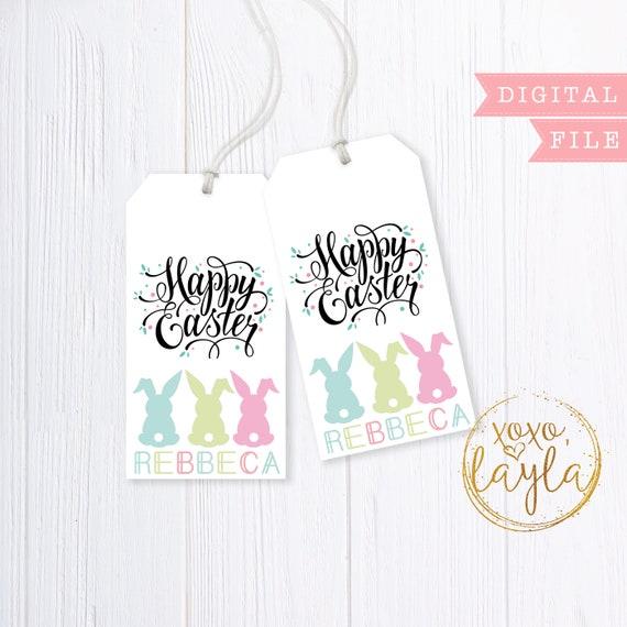 graphic regarding Printable Gift Bags titled Easter tags, easter tags printable, easter tag PDF, easter present bag tag, easter reward bag, printable reward tag, easter thank your self, present bag tag