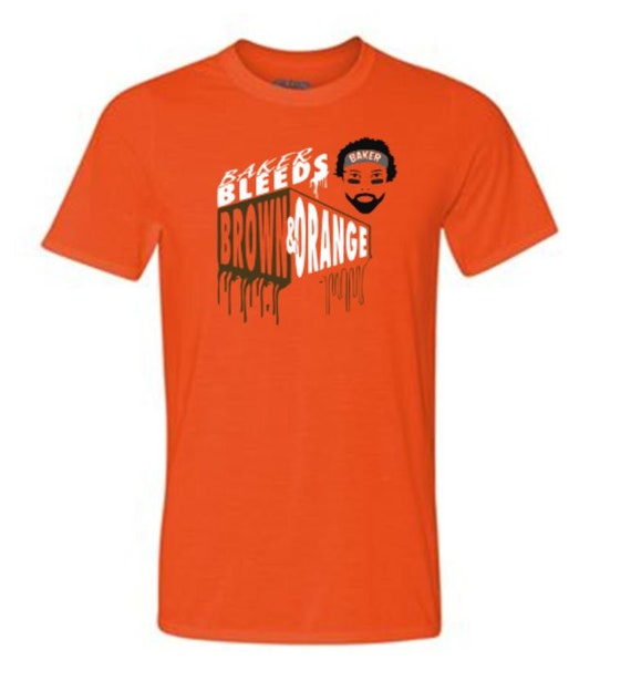 Baker- Bleed Brown and Orange Drifit -SHIRT