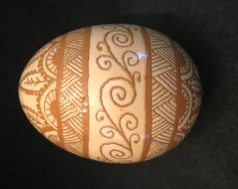 Pysanky- acid atched hicken egg
