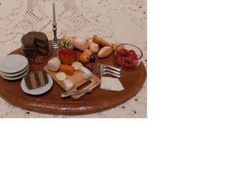 1:12 Miniature Artist Food Display Collectable
