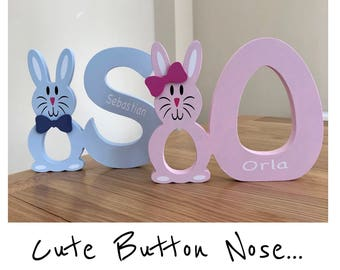 Personalised Wooden Easter Bunny Egg Holders