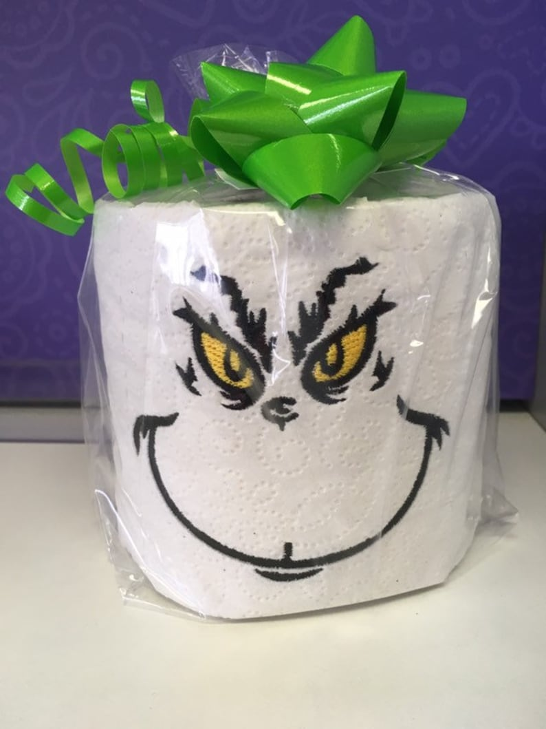 Grinch Funny Toilet Paper Embroidery Designs Instant
