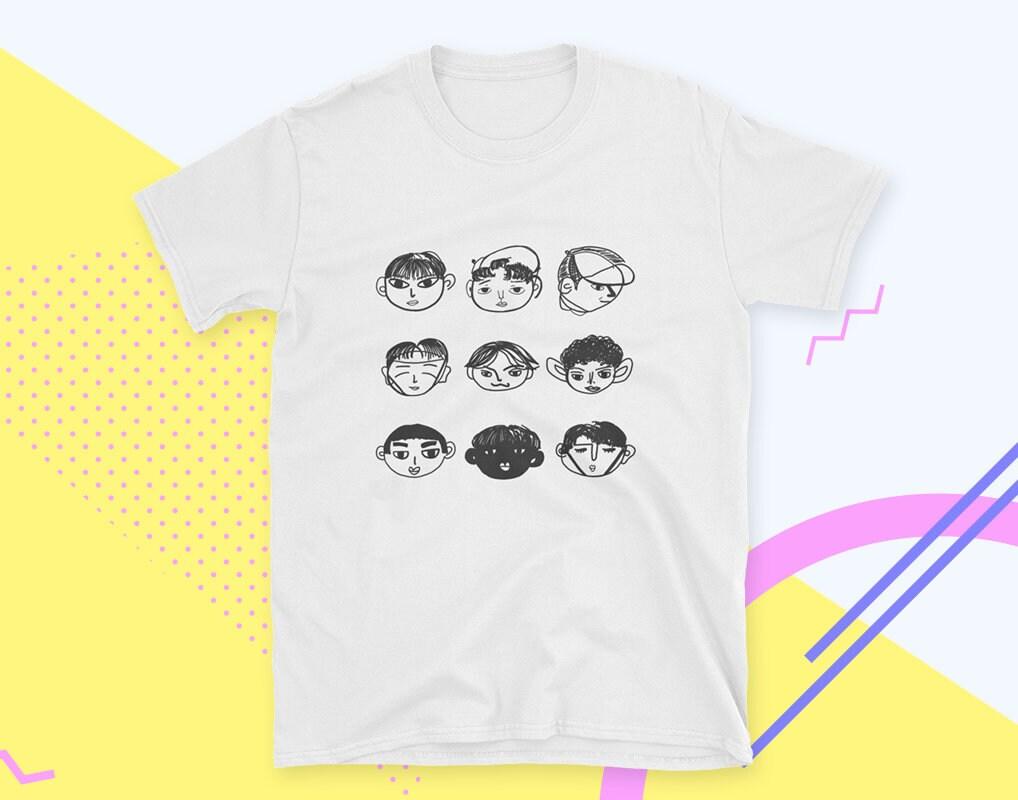 Exo Kpop T Shirt Do Illustrations Exo L Tee Etsy