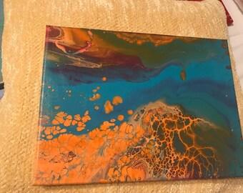 Drip painting - ocean