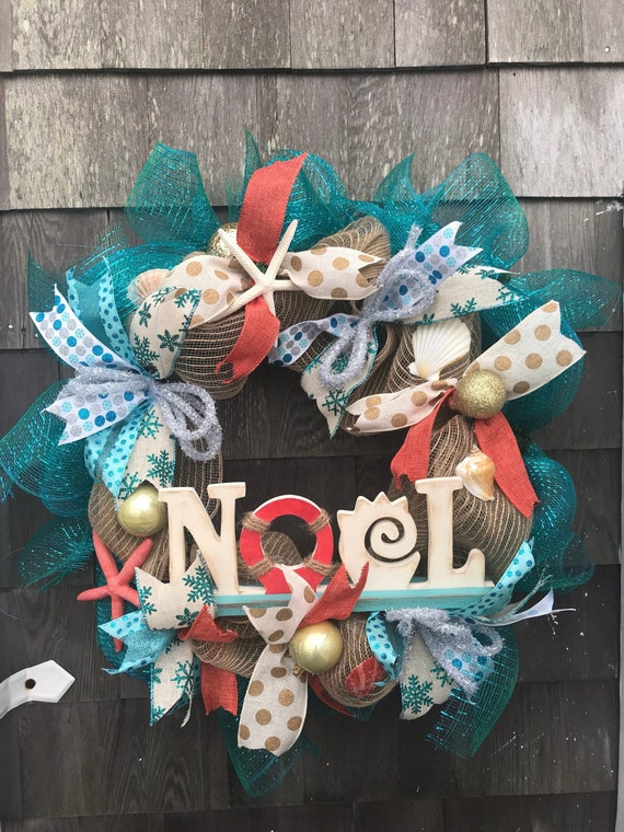 Nautical Christmas Wreath.Nautical Christmas Wreath