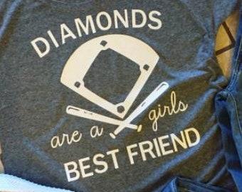 fd674108 Items similar to Diamonds Are A Girls Best Friend Tshirt, Baseball ...