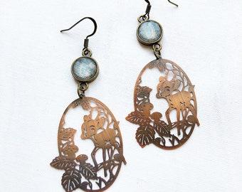 Bambi forest earrings