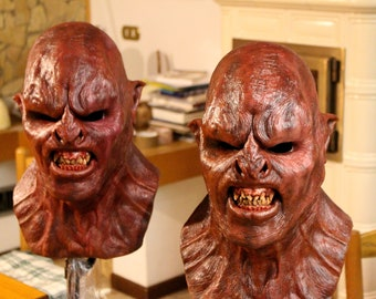 Ogre mask, inspired by uruk hai without hair (to order)