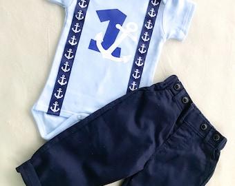 Nauti-Boy / Baby Boy nautical birthday outfit