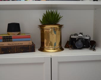 Lombard England brass planter