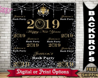 837bffe2992 New Year s Eve party Photo Booth Backdrop