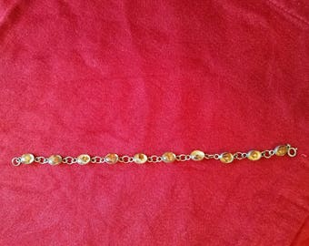 very cool late mid century sterling silver flower encapsulated  bracelet