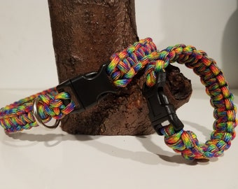 Matching Friendship Paracord Collar and Bracelet