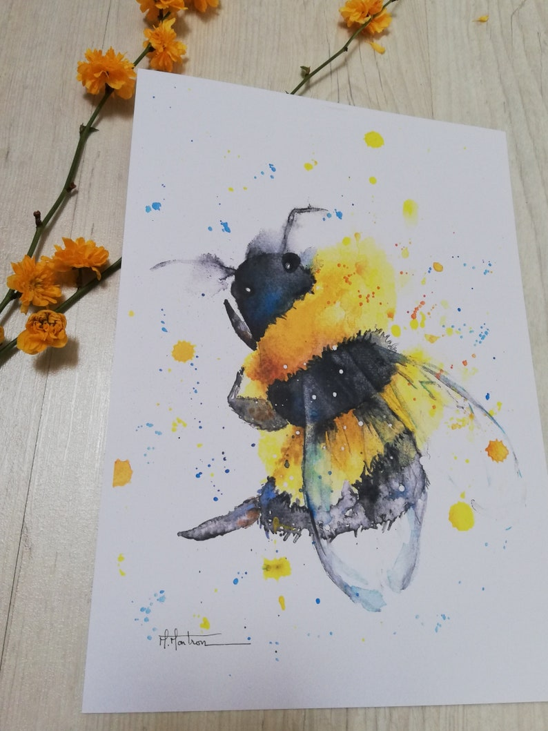 Watercolour bee France