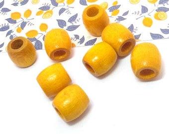 10 pce Lemon Pearlized Porcelain Rondelle Beads 15mm x 10mm Macrame Projects