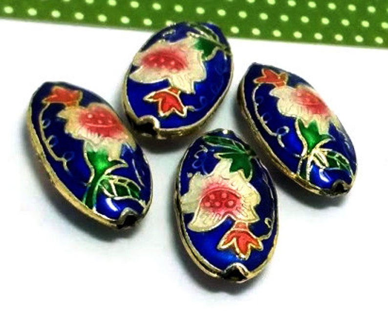 10mmX10mm CLOISONNE Spacer Beads 2pcs