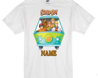 a16bea66 Scooby-Doo personalised t-shirt, any name, kids, birthdays, gifts