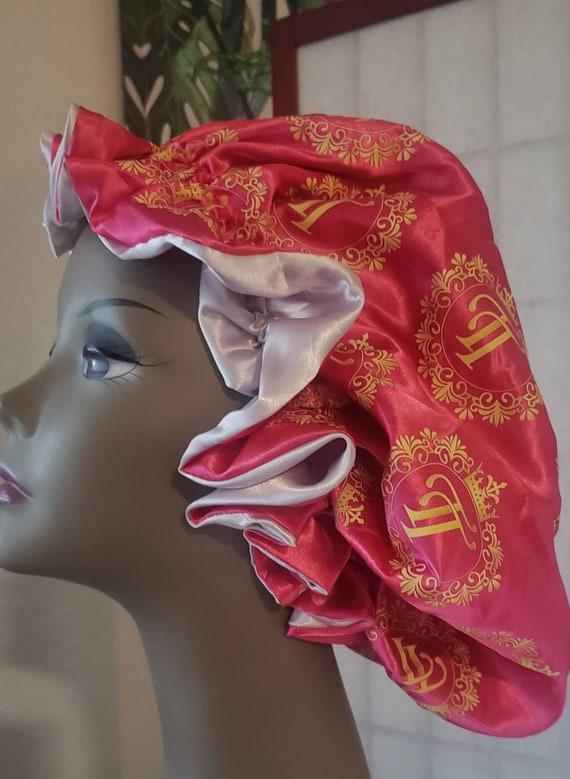 Reversable Sachi Bonnet  Pink ang grey silver