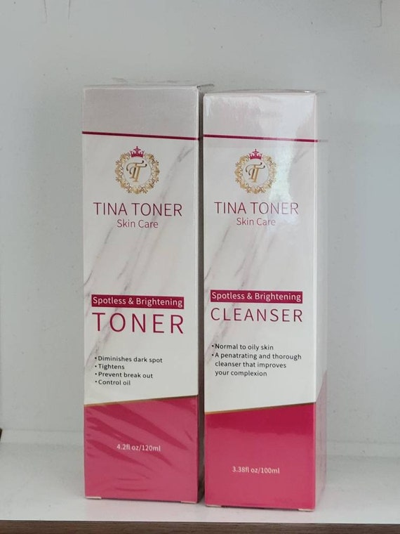Brightening face Cleanser and toner 4 oz set of 2