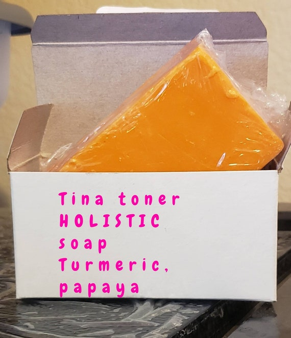 Tumeric × glutathione  face and body soap 150g
