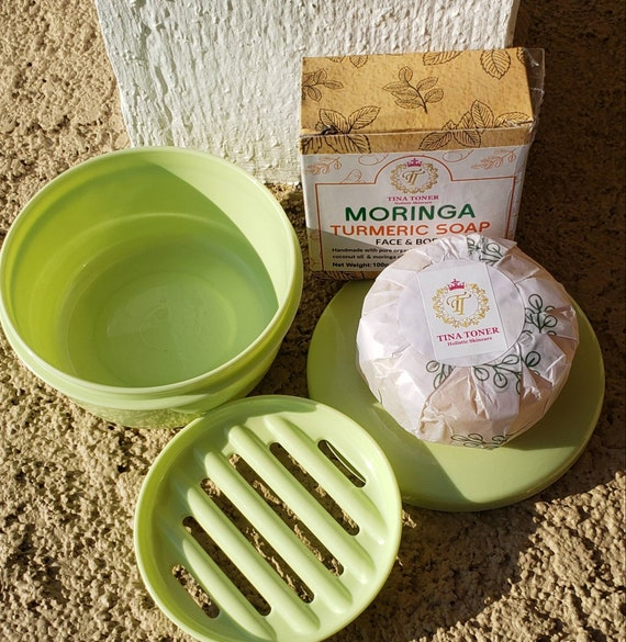 Moringa Turmeric soap and  dish