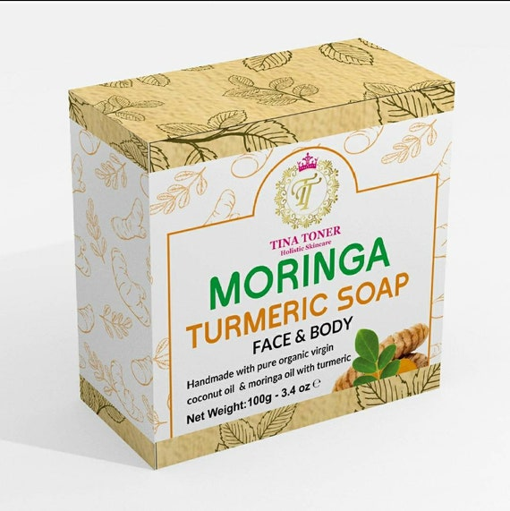 Moringa Turmeric  herbal soap/ organic 100g bar