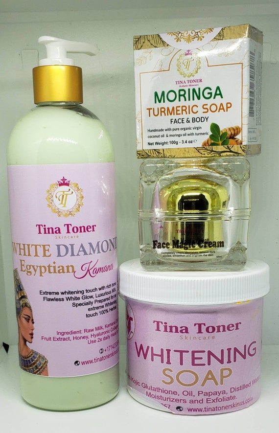 16 oz Egyptian lotion, face magic and soap whitening set of 3 plus face soap Best Seller