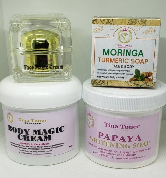 Body magic Extra Brightening set   of 3   with free  face soap