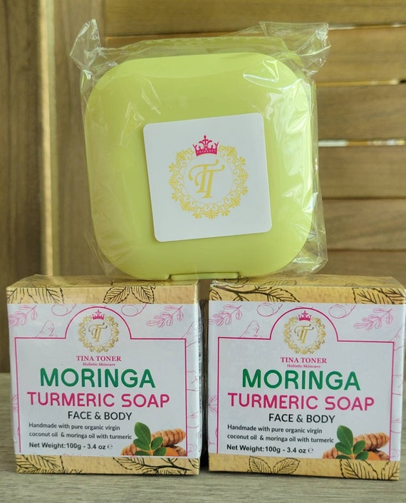 Turmeric Soap  2 with free soap dish