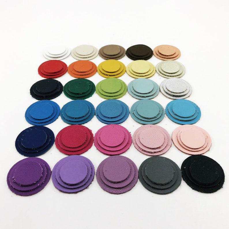 Leather Applique Circles // 11 sizes // Leather Discs // image 0
