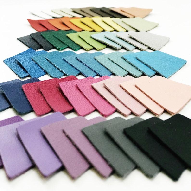 Diamond Shape Leather Applique // You Choose Color // Diamond image 0