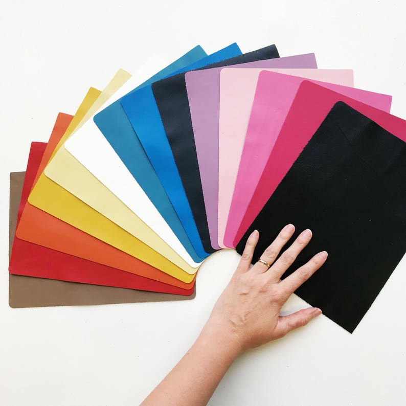 Colored Leather Sheets // 8x10 Leather Pieces // Smooth image 0