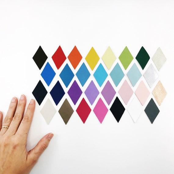 Diamond Shape Leather Applique  You Choose Color  Diamond Die Cuts  Leather Crafts  Leather Cut Outs  Leather Pieces  Geometric