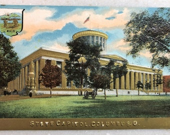 Vintage Postcard Harrisburg PA State Capitol Building