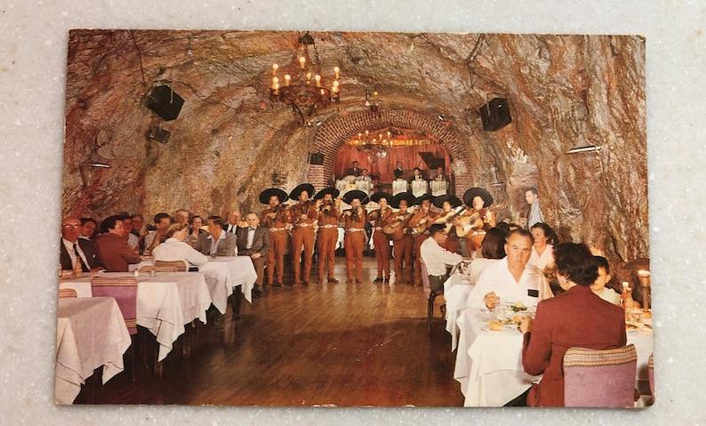 Vintage Postcard Mexico The Cavern Café in Nogales Sonora Mexico Mariachi  Band 1950
