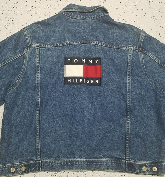 save up to 80% official images exclusive deals Mens Vintage 90's Tommy Hilfiger Denim Jean Jacket Flag | Etsy