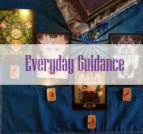 Lecture du Tarot conseils tous les jours Quatre cartes   Etsy ac1236cc8058
