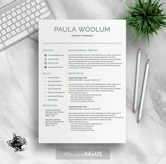 Moderne Lebenslauf Vorlage für Word 1-3 Seite Lebenslauf