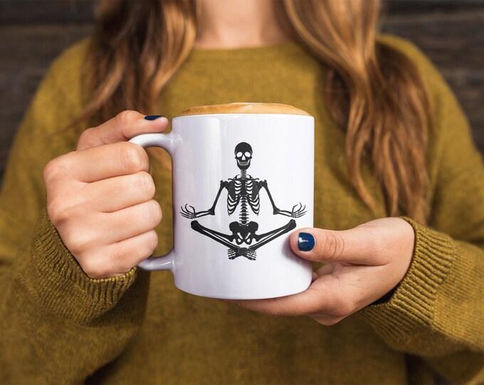 Featured listing image: Yoga Skeleton Mug
