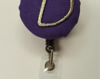 Monogram badge holder