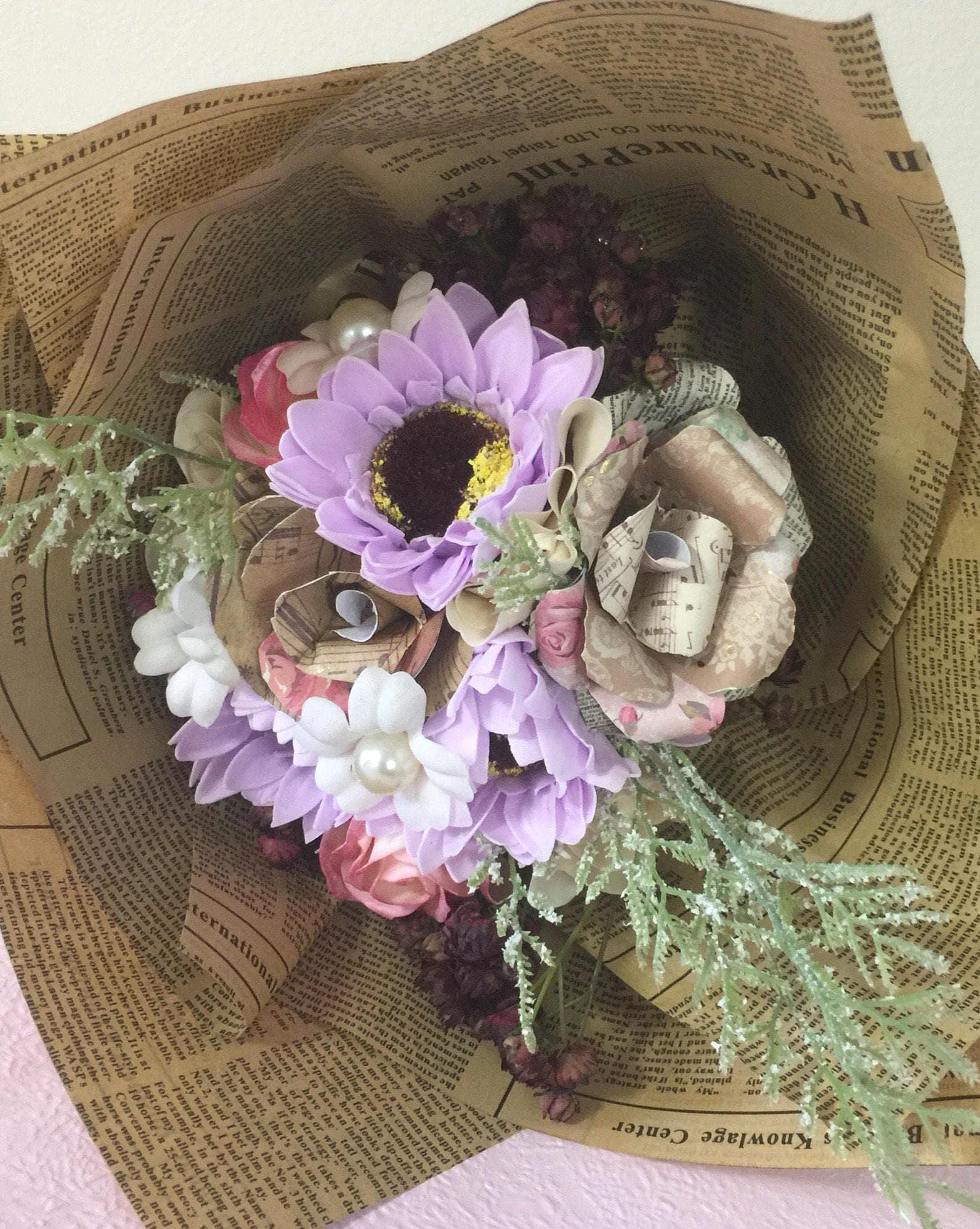 Vintageshabby chic soap flower bouquet zoom izmirmasajfo