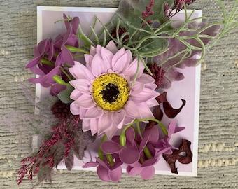 Soap Flower card