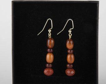 Handcrafted brown Wooden Earrings