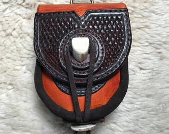 """Leather pouch """"The Brushwood"""""""