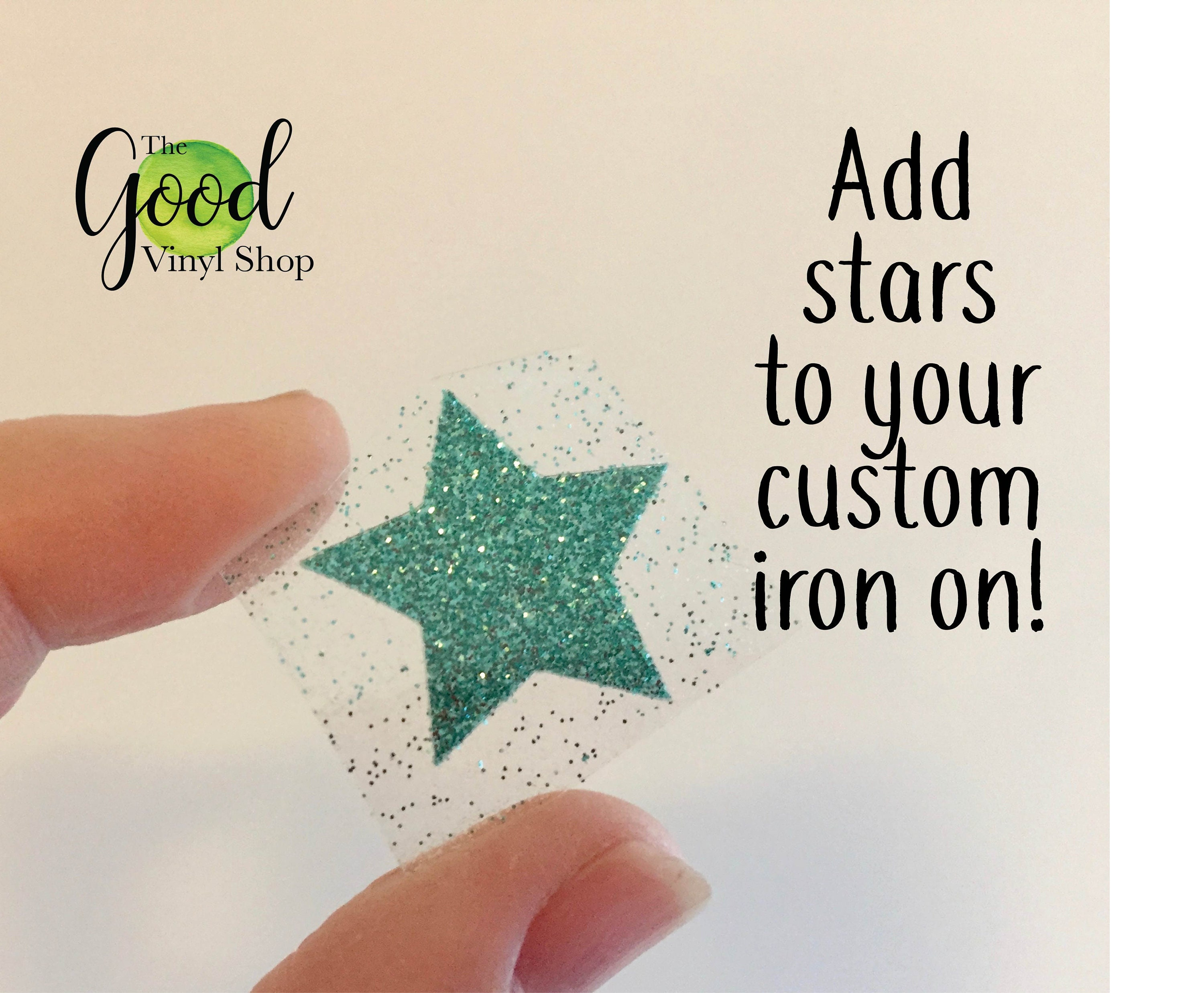 Three Stars Iron On Transfers For T Shirt Htv Transfer Custom Etsy
