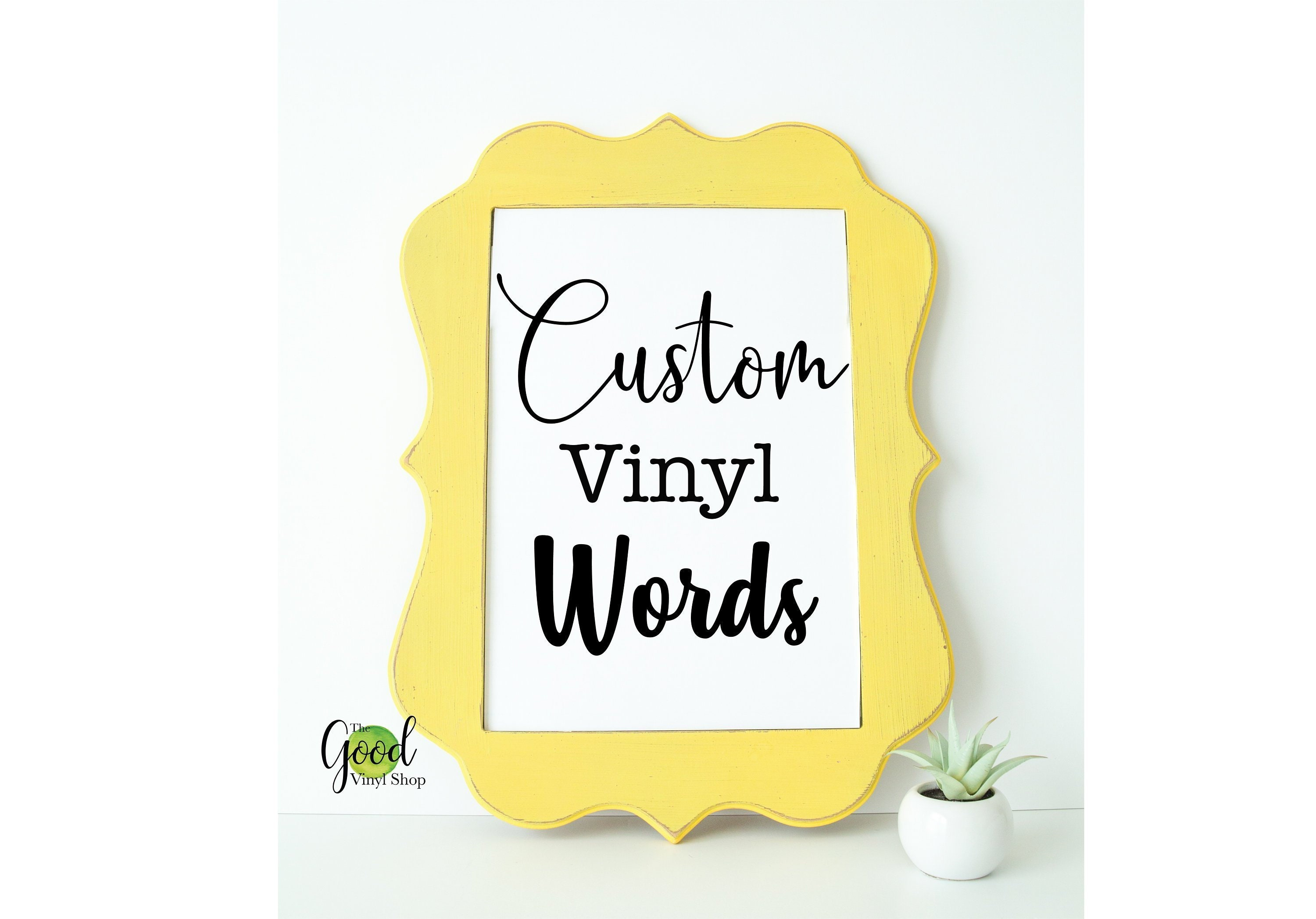 Custom vinyl words vinyl decals vinyl stickers
