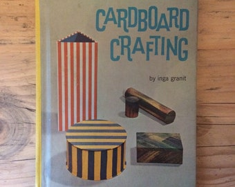 Cardboard Crafting: How to make things out of cardboard vintage book