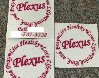 Plexus Live Healthy Life Drink Pink and Pray vinyl decal