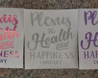 Plexus the Health and Happiness Company Vinyl Decal